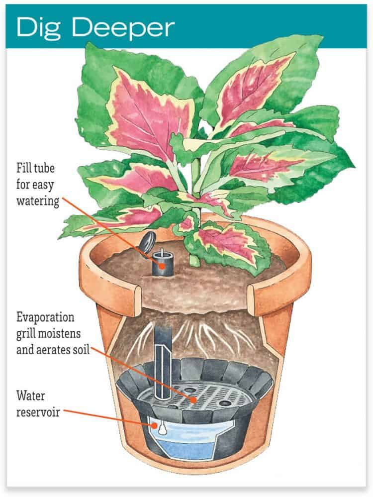 Self-Watering Pot Reservoirs