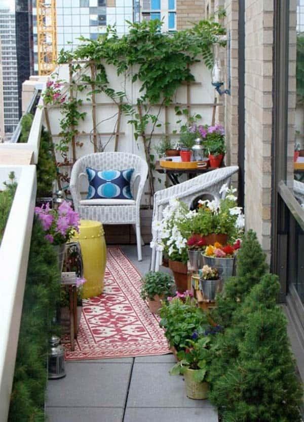 Inspiring small balcony garden ideas