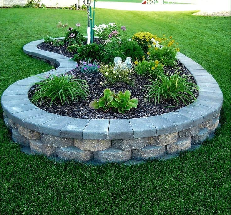 Raised Block Flower and Plant Bed