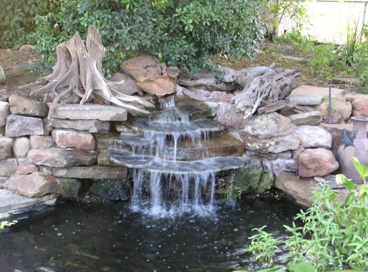backyard garden waterfall ideas